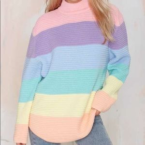 Rainbow/Pastel Colored Sweater by UNIF